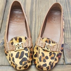 Tory Burch Kendrick Leopard Driving Loafer Size 9